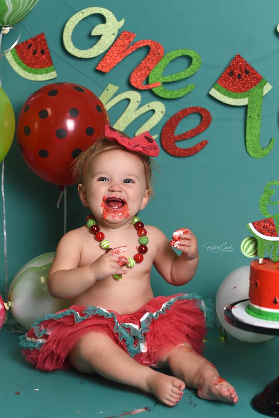Watermelon Cake Smash with Briella.