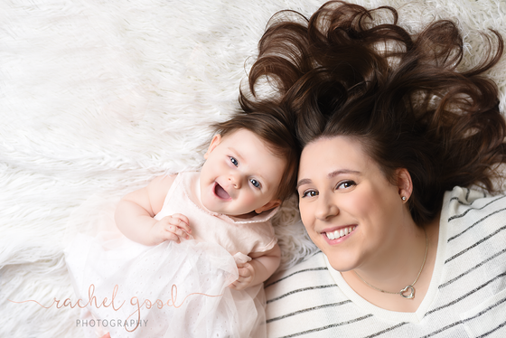 Columbia Station Family Photographer { miss Addie's 6 month milestone }