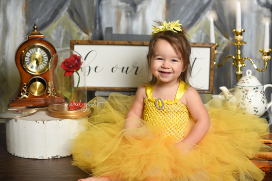 Isabelle turns 2. Beauty & the Beast Theme