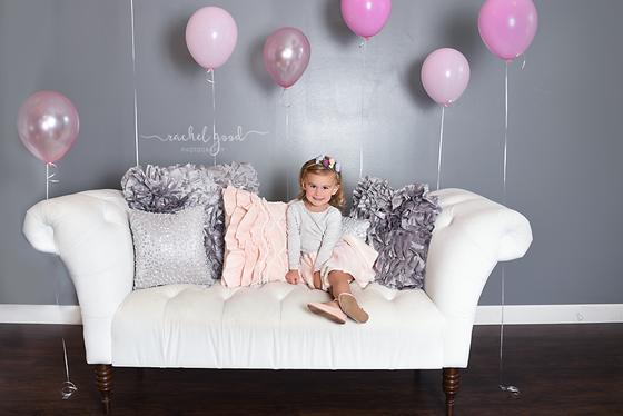 Reese turns 3! a fun, free spirited milestone session