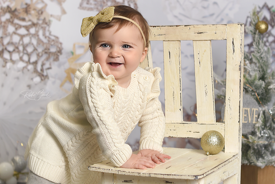 first year of life client, Harper. 9 month session