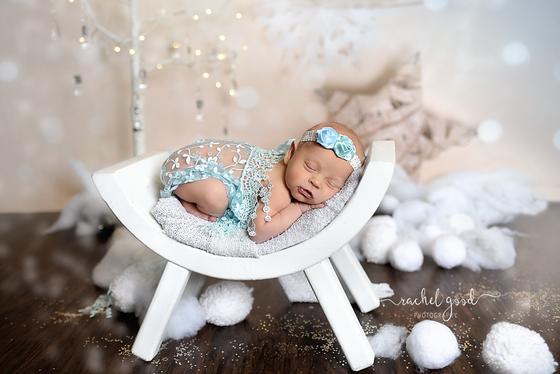 Frozen inspire newborn session {meet Paige, one week new}