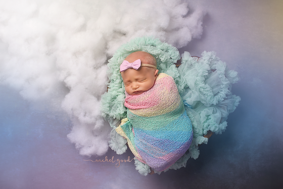 Rainbow baby at home newborn session | Columbia Reserve Photographer