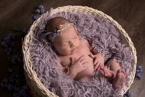 Meet Olive.   short and sweet newborn session