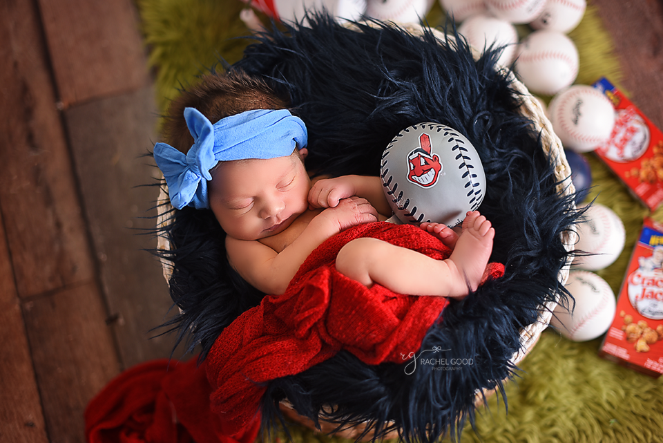 cleveland indians baby photographer