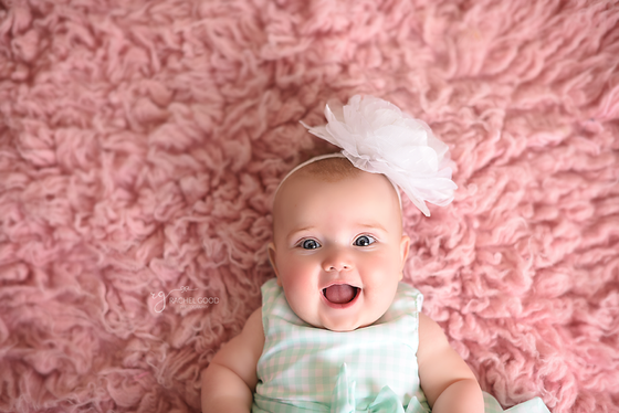 First Year of Life Client, Rosalie's 6 month portraits