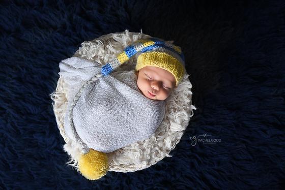 """Cameron Jack """"CJ"""" Instudio Newborn Portraits"""
