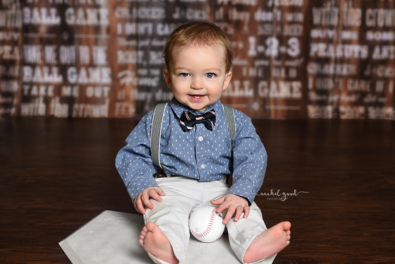 Maverick's 9 month baseball themed milestone mini session