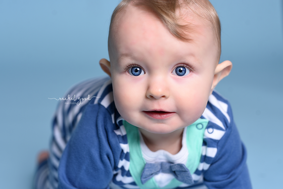 first year of life client, Lucas. 8 month milestone