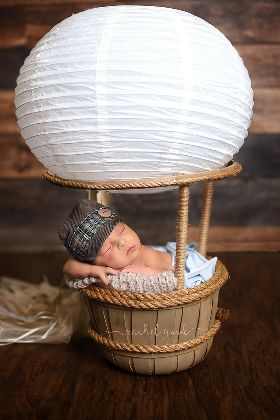 Christopher. Hot Air Ballooned Goodness newborn session.