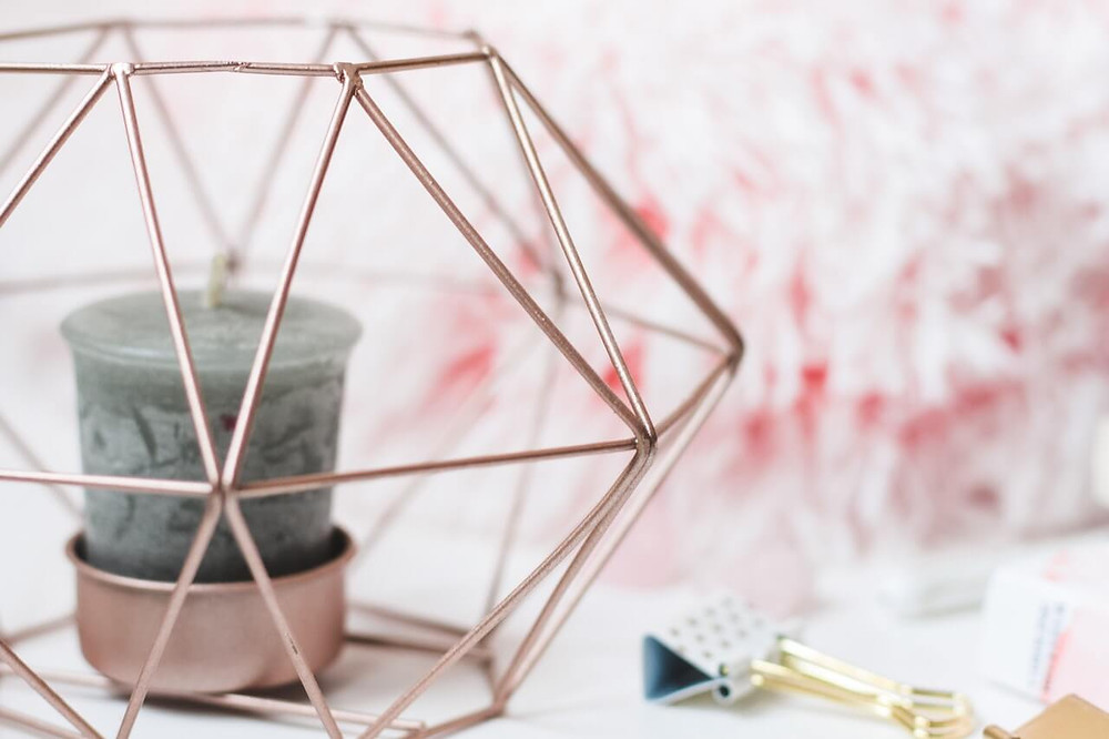 Crystals For Good Health - candle