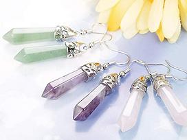 Jewelry - Quartz Stone Gemstone Dangle E