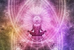 purple third eye chakra meditation