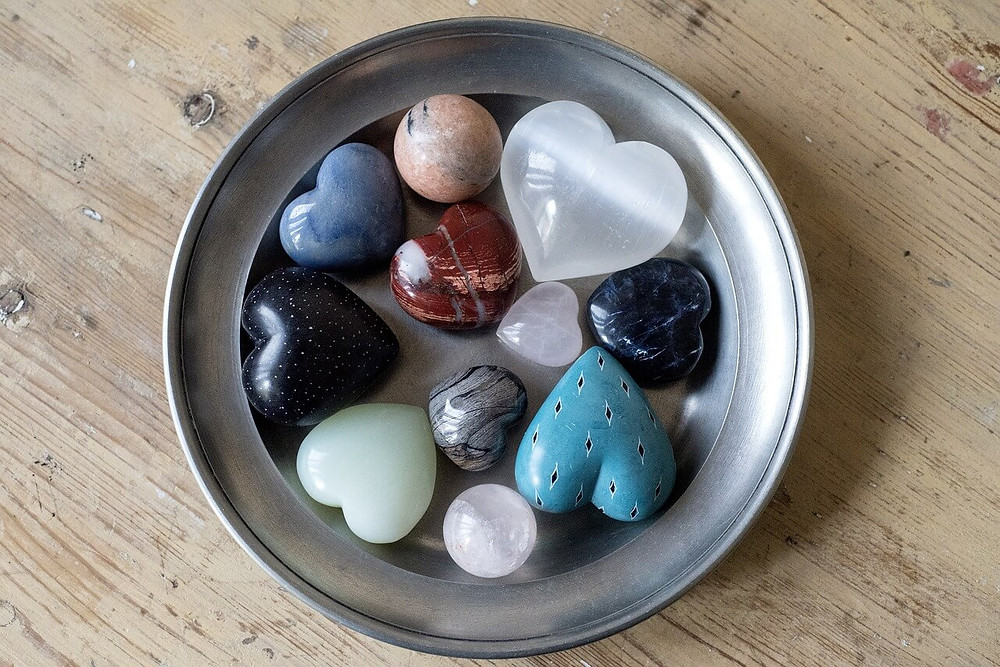the happy healing shop selenite heart shaped crystals