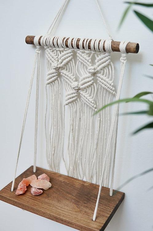 "Flower Macrame Shelf-10"" Luxury Hardwood"