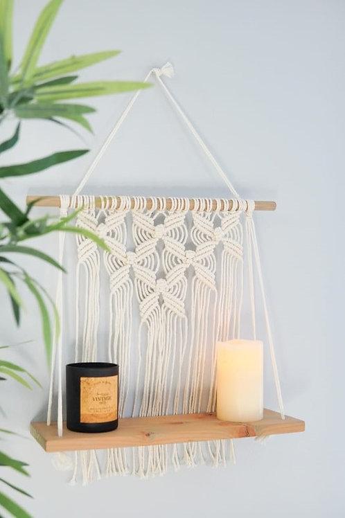 "Flower Macrame Shelf-16"" Luxury Hardwood"