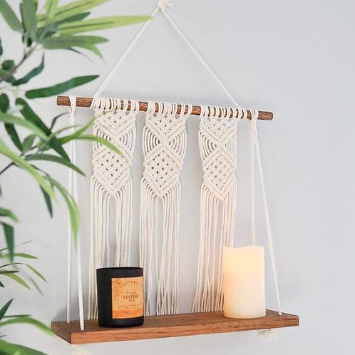 """Arrow Macrame Shelf-16"""" Luxury Hardwood"""