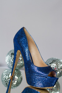 Blue Disco Shoes