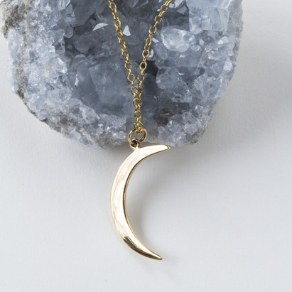 Laughing Lotus Boutique Moon Necklace