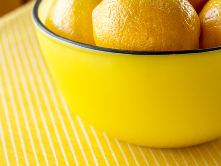 Lemons in a Yellow Bowl