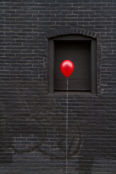 Red balloon in New London, CT