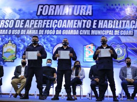 Guarda Municipal de Coari (GMC) capacitam seus integrantes para o uso e porte de armas de fogo.
