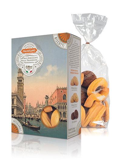 misto di biscotti veneziani palmisano in confezione scrigno