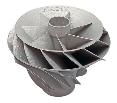 impresion 3d metal impeller