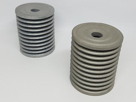 Pieza metálicas flexibles impresas en 3D