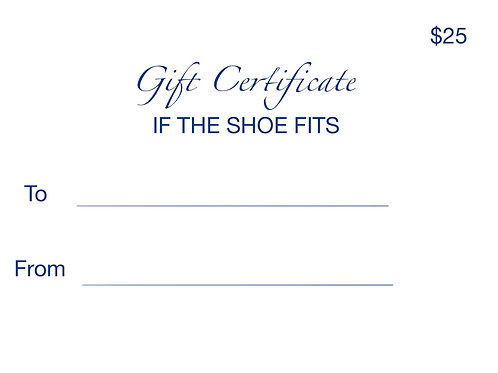 GIFT CERTIFICATE $25