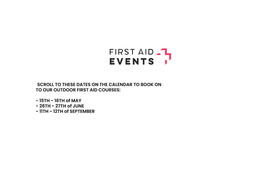 First aid booking information