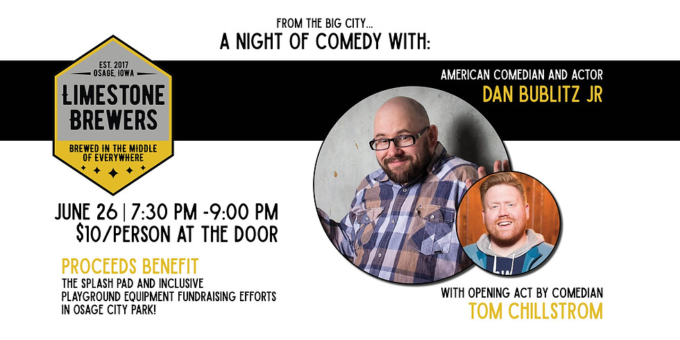 A Night of Comedy with American Comedian and Actor Dan Bublitz Jr.