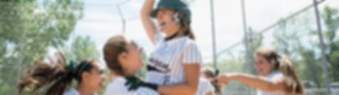 Softball team della ragazza