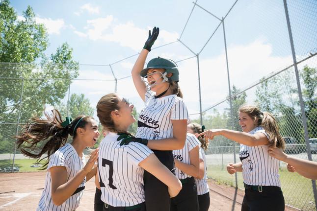 Mädchen Softball-Team