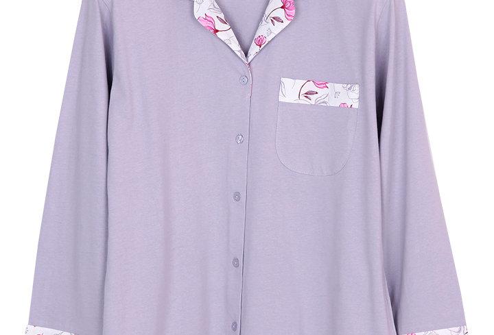 Josilins Good Life Good Vibe Carnations _ Long Shirt With Long Pants