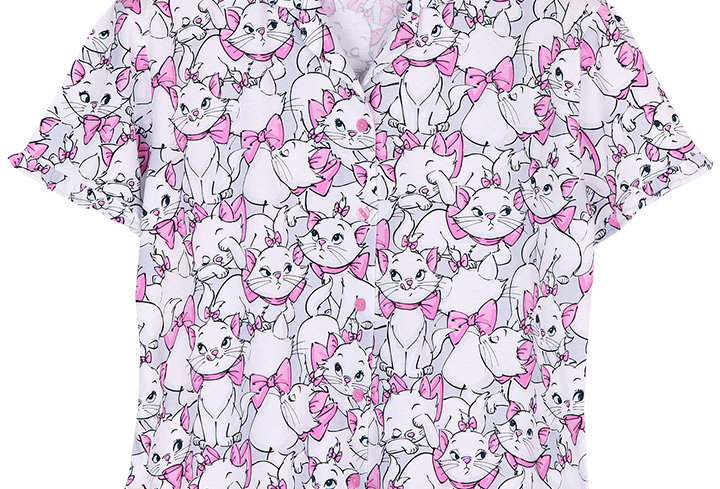 Disney Precious and puuurfect Marie  _ Short Shirt With Long Pants
