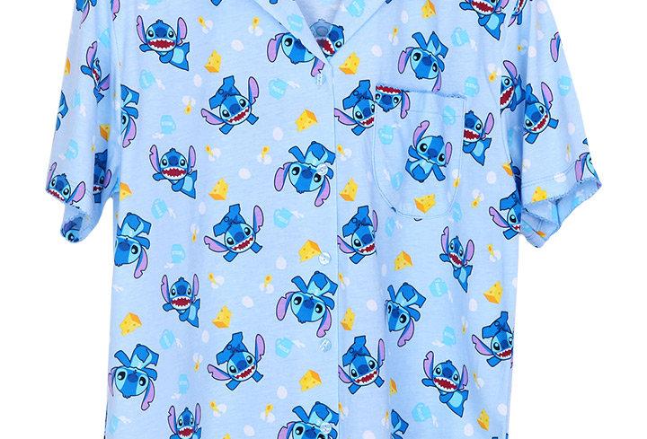 Lilo&Stitch Stitch Cheese _ Short Shirt With Short Pants