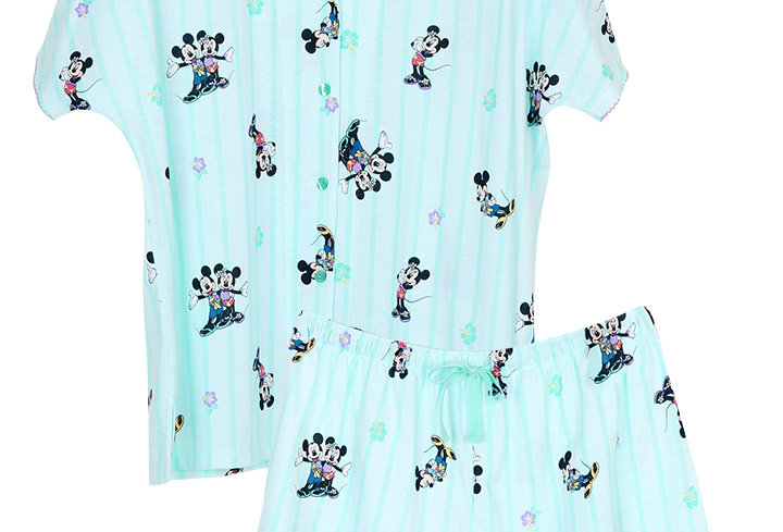 Mickey Go Thailand:Summer Flower _ Short Shirt With Short Pants