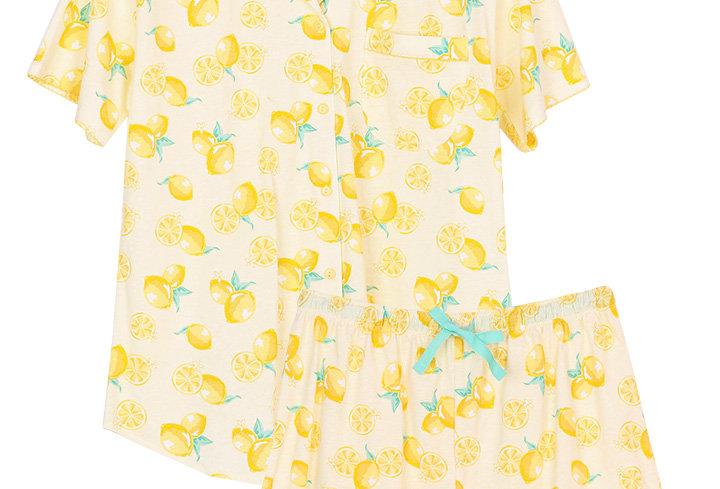 Josilins Splash Lemon _ Short Shirt With Short Pants