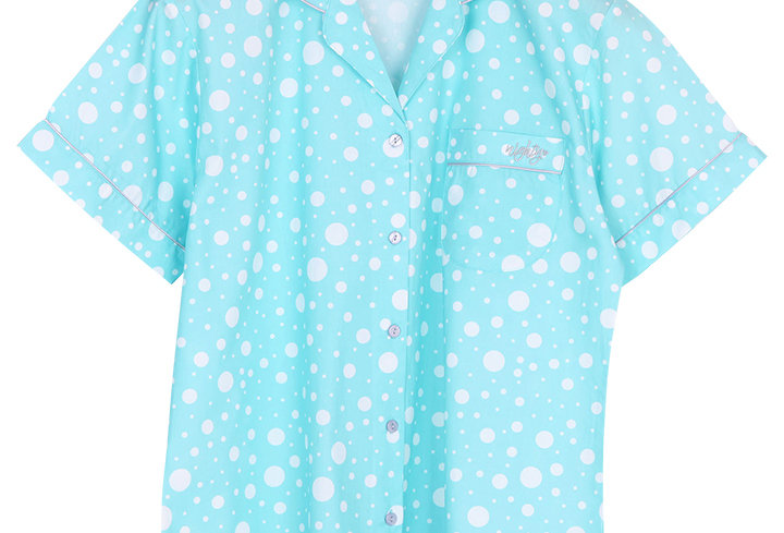 Josilins Nighty Dot _ Short Shirt With Long Pants