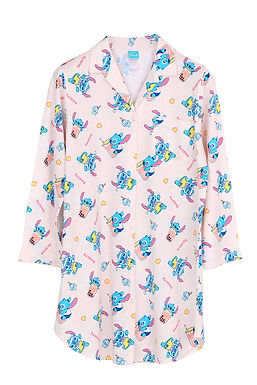 Lilo&Stitch Stitch Bubble Tea_Long Sleeve Dress