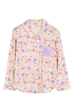 Hello Summer Hello Flamingo Collection _ Long Shirt With Long Pants