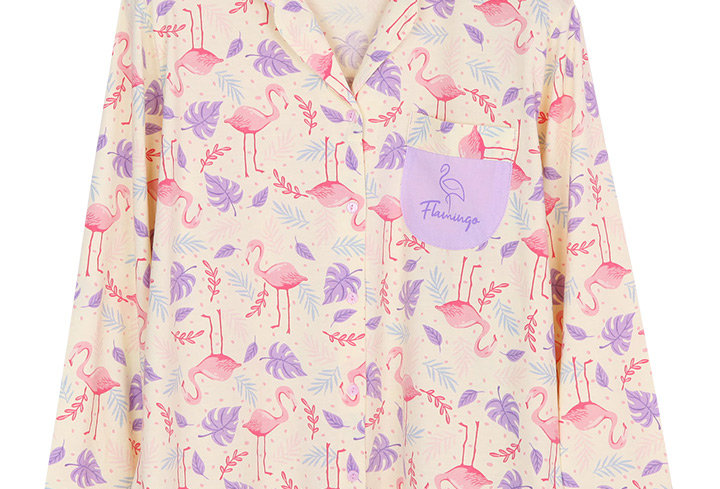 Hello Summer Hello Flamingo Collection _ Long Shirt With Long Pants
