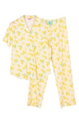 Josilins Splash Lemon _ Short Shirt With Long Pants