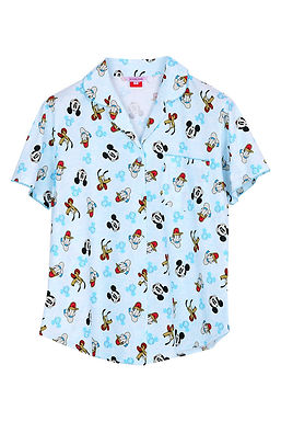Mickey Mouse Topdye_Short Shirt With Short Pants