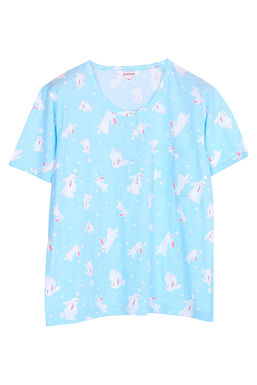 Josilins Bunny love you _Short T-Shirt With Capri Pants