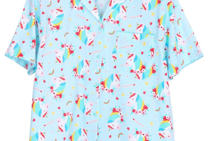 Emoji unicorn rainbow _ Short Shirt With Short Pants