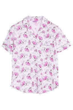 Josilins Good Life Good Vibe Carnations _ Short Shirt With Long Pants