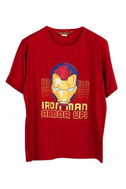 Marvel IRON MAN ARMOR UP_Short Shirt With Long Pants