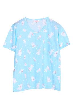 Josilins Bunny love you _ Short T-Shirt With Capri Pants
